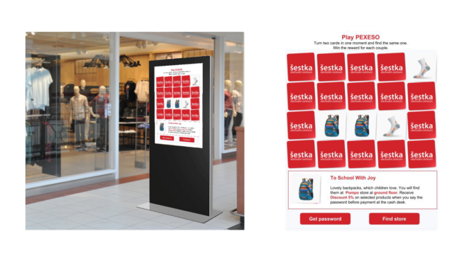 Jansen Display Digital - Actionalble Signage - Gamified Promotion - Example Shopping Mall